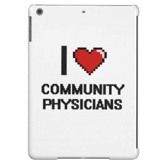 Amo a médicos de la comunidad funda para iPad air