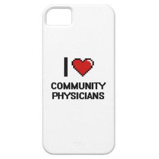 Amo a médicos de la comunidad iPhone 5 carcasa