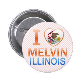Amo a Melvin, IL Pins