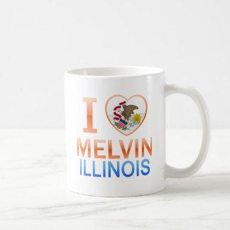 Amo a Melvin, IL Taza De Café
