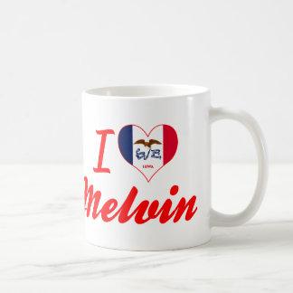 Amo a Melvin, Iowa Tazas