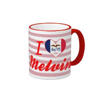 Amo a Melvin, Iowa Taza De Café