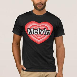 Amo a Melvin. Te amo Melvin. Corazón Playera