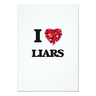 """Amo a mentirosos invitación 3.5"""" x 5"""""""