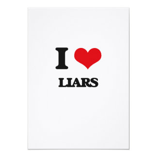 """Amo a mentirosos invitación 5"""" x 7"""""""