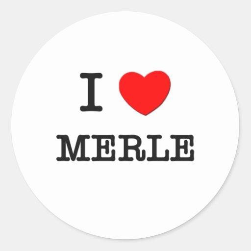 Amo a Merle Pegatinas Redondas