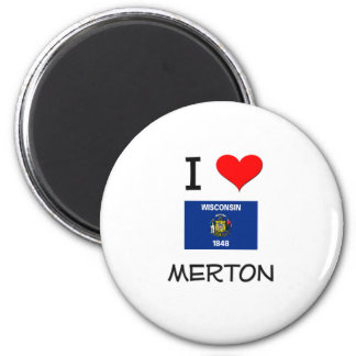 Amo a Merton Wisconsin Imanes De Nevera