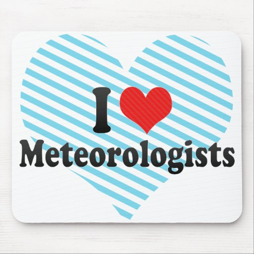 Amo a meteorólogos alfombrillas de ratón