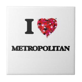 Amo a metropolitano azulejo cuadrado pequeño