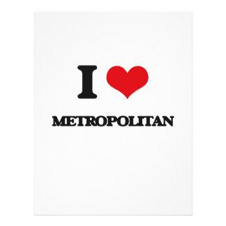 Amo a metropolitano tarjetas publicitarias