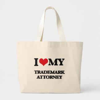 Amo a mi abogado de la marca registrada bolsas de mano