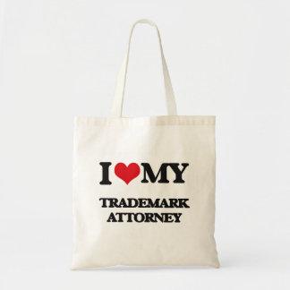 Amo a mi abogado de la marca registrada bolsas