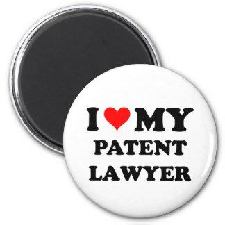 Amo a mi abogado patentado imán de nevera