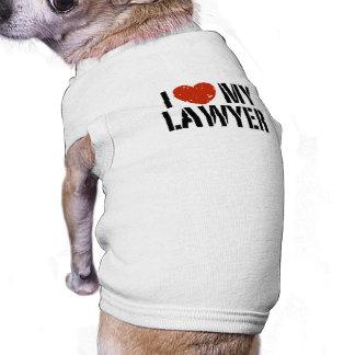Amo a mi abogado playera sin mangas para perro