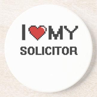 Amo a mi abogado posavasos manualidades