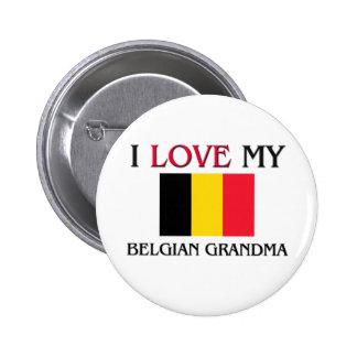 Amo a mi abuela belga pin