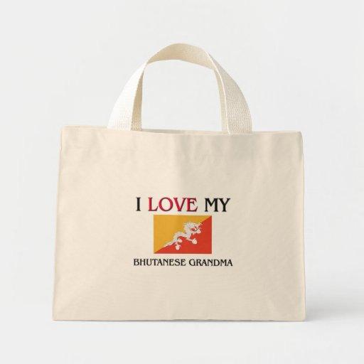 Amo a mi abuela butanesa bolsa de mano