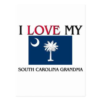 Amo a mi abuela de Carolina del Sur Tarjetas Postales