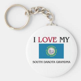 Amo a mi abuela de Dakota del Sur Llavero