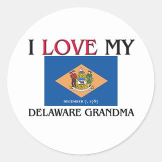 Amo a mi abuela de Delaware Pegatina Redonda