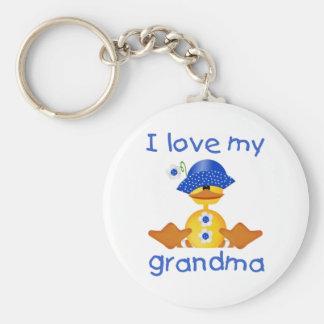 Amo a mi abuela (el chica ducky) llavero redondo tipo pin