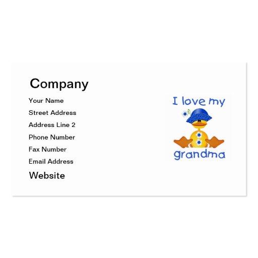 Amo a mi abuela (el chica ducky) tarjetas de visita