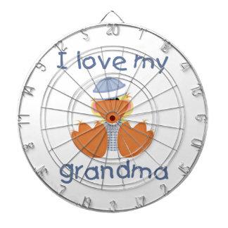 Amo a mi abuela (el muchacho ducky) tablero de dardos
