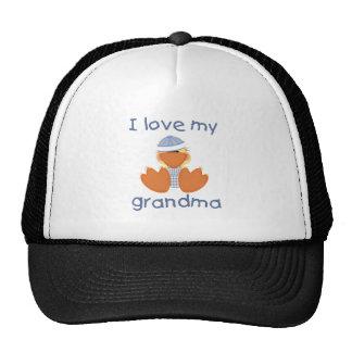 Amo a mi abuela el muchacho ducky gorras de camionero