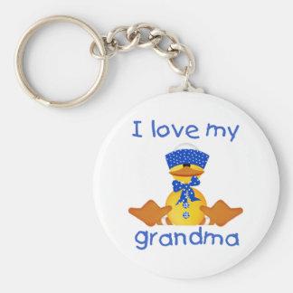 Amo a mi abuela (el muchacho ducky) llavero redondo tipo pin