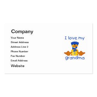 Amo a mi abuela (el muchacho ducky) tarjetas de visita