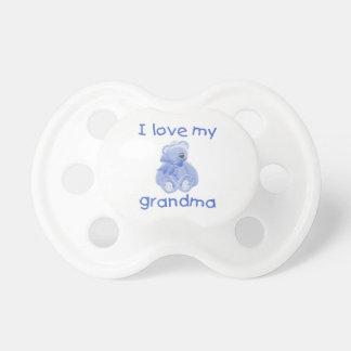Amo a mi abuela el oso azul chupete de bebé