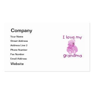 Amo a mi abuela (el oso rosado) tarjetas de visita