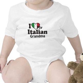 Amo a mi abuela italiana trajes de bebé