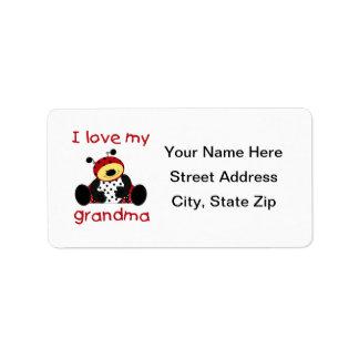 Amo a mi abuela (la mariquita del muchacho) etiqueta de dirección