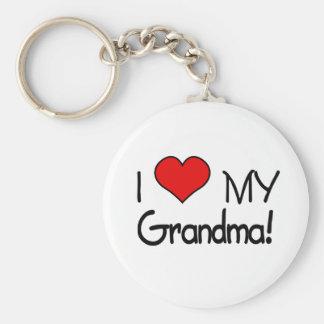 ¡Amo a mi abuela! Llavero Redondo Tipo Pin