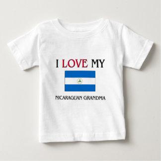 Amo a mi abuela nicaragüense playera para bebé