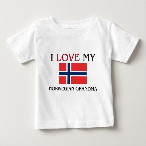 Amo a mi abuela noruega remeras