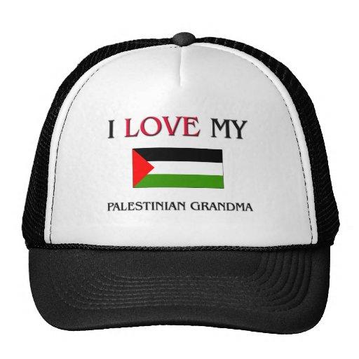 Amo a mi abuela palestina gorras