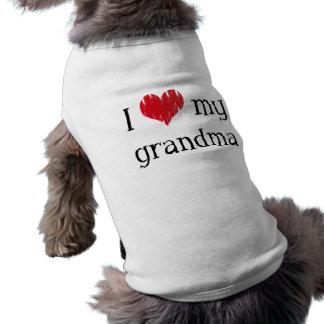Amo a mi abuela playera sin mangas para perro