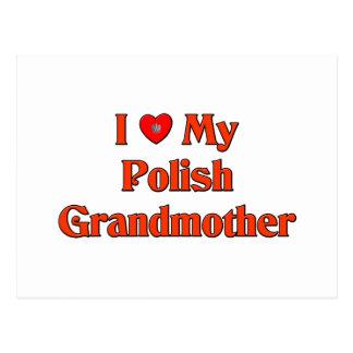 Amo a mi abuela polaca postal