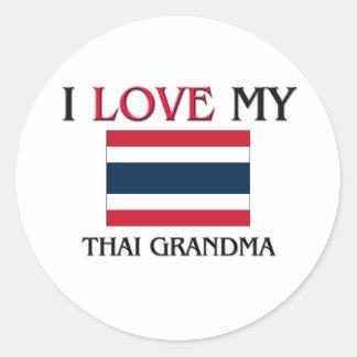 Amo a mi abuela tailandesa etiquetas