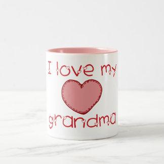 Amo a mi abuela taza de dos tonos