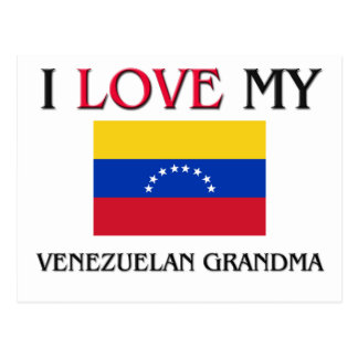 Amo a mi abuela venezolana postal