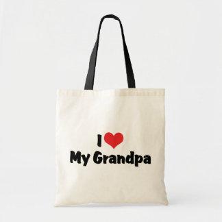 Amo a mi abuelo bolsa tela barata