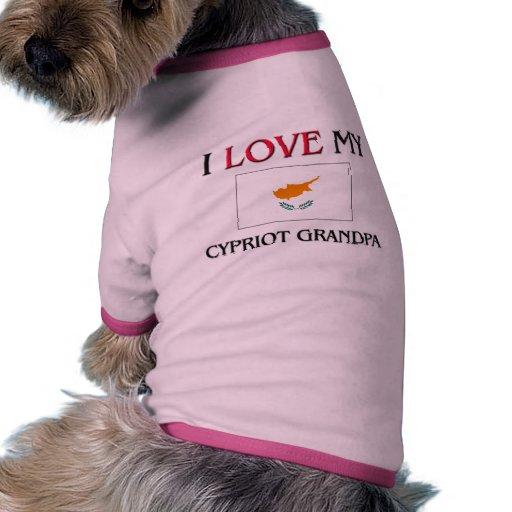 Amo a mi abuelo chipriota ropa de mascota