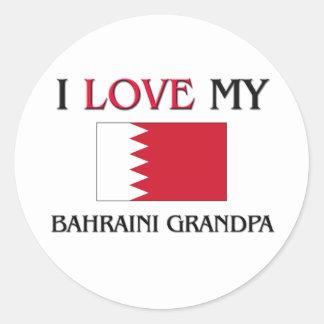 Amo a mi abuelo de Bahrein Pegatinas Redondas