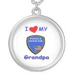 Amo a mi abuelo de la policía joyeria personalizada