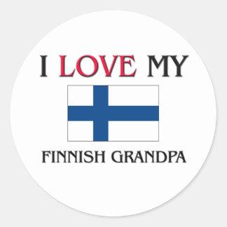 Amo a mi abuelo finlandés etiqueta redonda