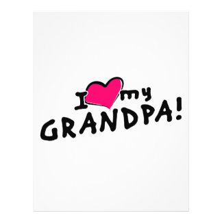 "¡Amo a mi abuelo! Folleto 8.5"" X 11"""
