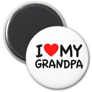 Amo a mi abuelo imán redondo 5 cm
